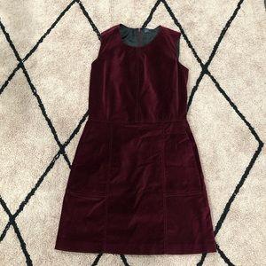 Gap Red Velvet Mini Dress